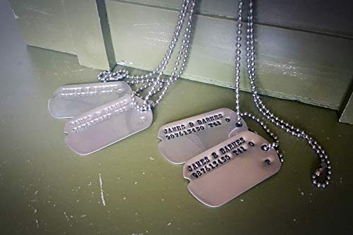 James Bucky Barnes WWII Style Military Dog Tags - Screen Accurate from Captain America -  Dark Matter Props
