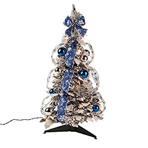 Fox Valley Traders Snow Frosted Winter Style Pull-Up Tree by Holiday PeakTM 6