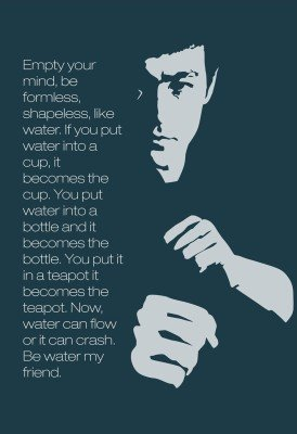 Amazoncom Bruce Lee Motivational Quotes Empty Your Mind Be