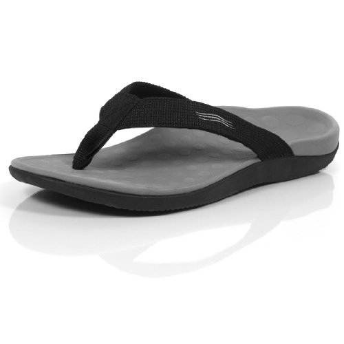 Image of the Orthaheel Mens/Womens Wave Sandals (Mens 11 Womens 12, Black)