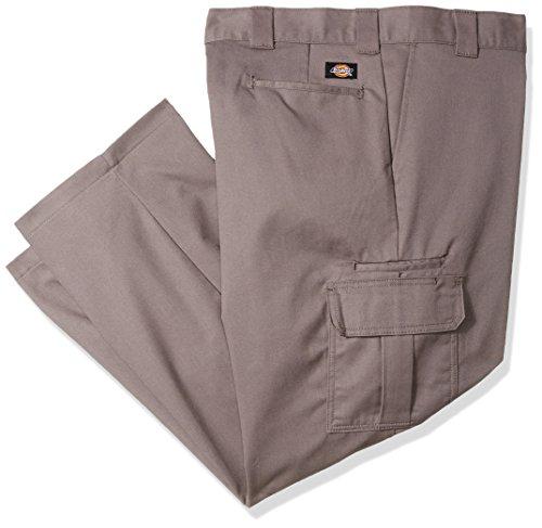 Dickies Men's Regular Straight Stretch Twill Cargo Pant Big, Gravel Gray, 48X32