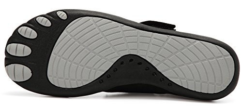 LINGTOM Water Shoes Men Women Sports Sneakers Lightweight Barefoot Quick Dry Shoes For Gym Running and Swimming Black 2ZkodN