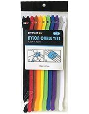 OPENMOON Nylon Reusable Cable Ties, Adjustable 10pieces Multicolor