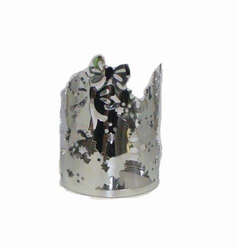 - Christmas Chrome Wreath Jar Holder