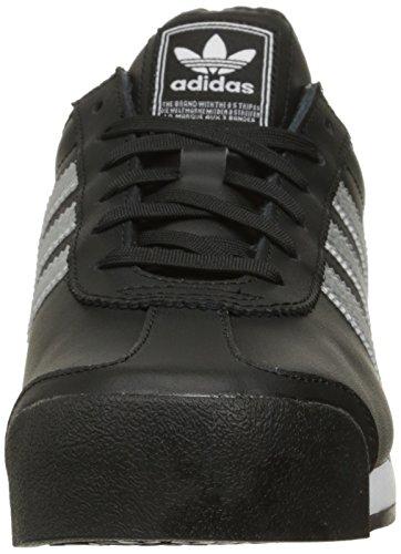 Adidas Originals Women's Samoa W Fashion Sneaker, Black/Metallic Silver/White, 7 M US