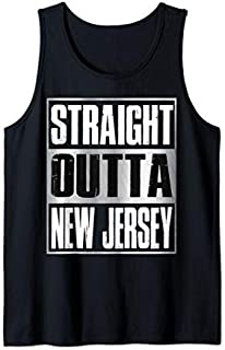 Straight Outta New Jersey  Patriotic New Jersey State Tank Top T-shirt | Size S - 5XL