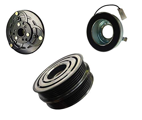 Compressor Ac Volvo S40 - 2005 Volvo S40 2.5L DKS15CH AC A/C Compressor Clutch Kit (PULLEY, BEARING, COIL, PLATE)
