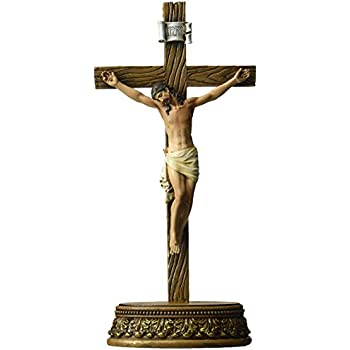 Renaissance Collection 6 x 8.5 Inch Resin Stone Tabletop Corpus Crucifix Cross