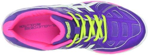 Asics Damen Volleyballschuh Gel-Volleycross 4, Lila/Weiß/Pink Grape/White/Hot Pink