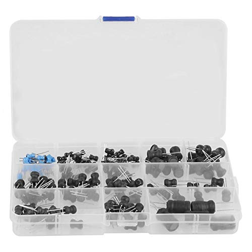 145Pcs 10uH-10mH 12 Values Choke Inductors Assorted Kit ()