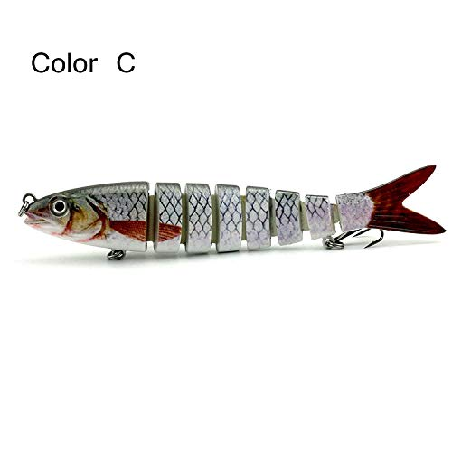 Isafish 8 Segment Swimbait Lures Crankbaits Baits Hard Bait Fishing Lures