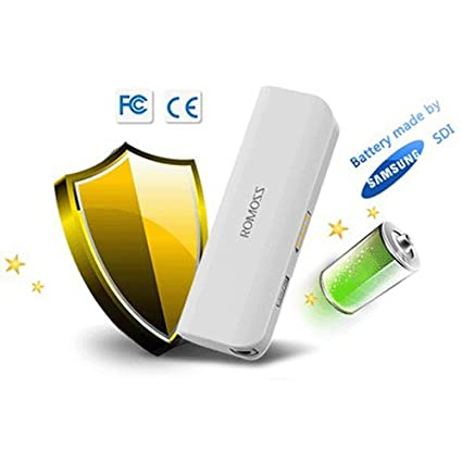 Amazon.com: Romoss sofun 1 2600mAh with Samsung Cell Portable Emergency Universal USB external backup battery pack and Micro USB cable with LED flashlight ...