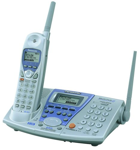 - Panasonic KX-TG2740S 2.4 GHz DSS 2-Line Expandable Cordless Speakerphone with Answering System and Caller ID