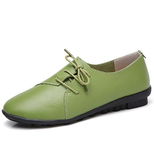 b6b3a170e82f8 Kenavinca Women Women Women Genuine Leather Shoes Casual Slip-On Ballet  Women Flats Cut Out Floral Printing Moccasins Ladies... B07DFYXJJG Shoes  5849c4