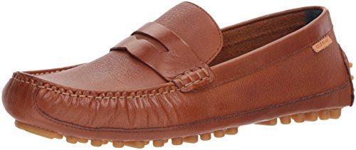 Cole Haan Men's Coburn Penny Driver II Loafer, British tan Textured Leather, 11 Medium US