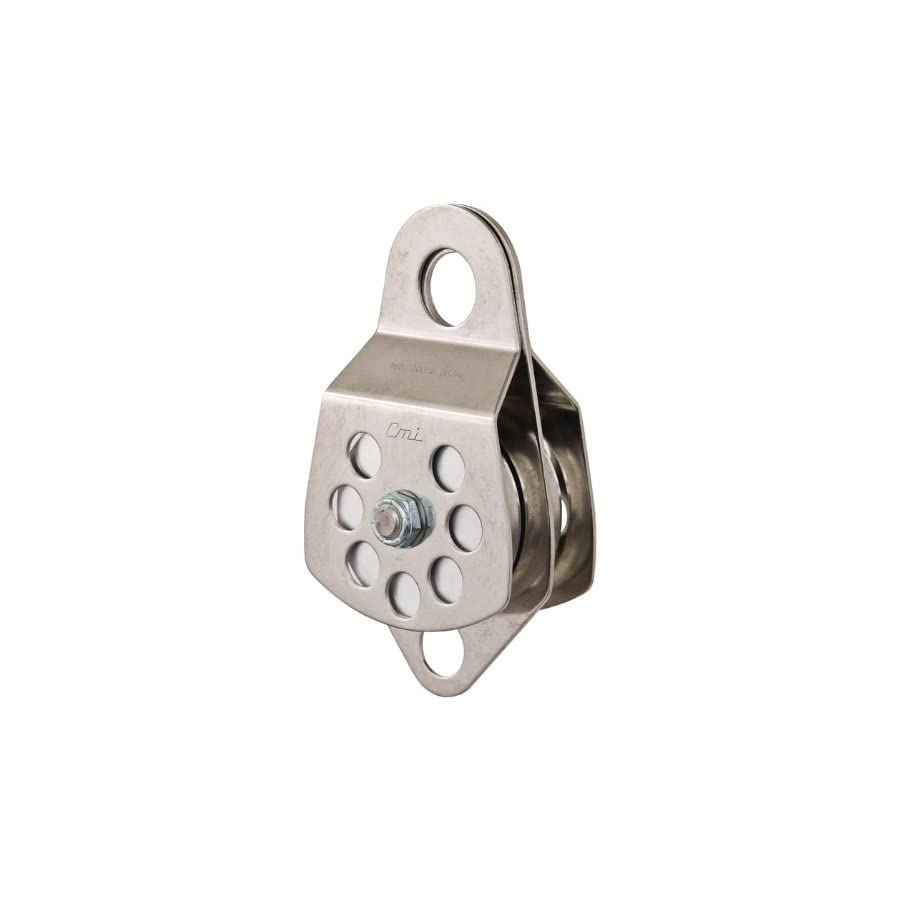 "CMI 3"" Double Pulley with Bearings, Stainless Steel Sideplates and Aluminum Sheaves RP105D"