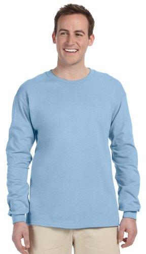 Gildan Ultra Cotton 6 Oz. Long-Sleeve T-Shirt (G240)- Light Blue,XXX-Large ()