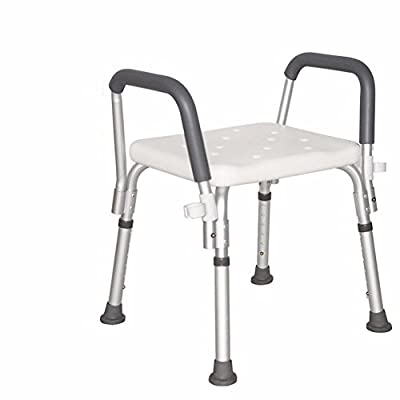 OLQMY-Old man friend Old Bath Stool shower arms shatter-resistant non-slip seat pregnant women aluminum bath bench