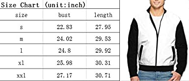 Speed of Light Mens Bomber Jacket Casual Track Jacket Baseball Coat Stand-up Collar Jacket