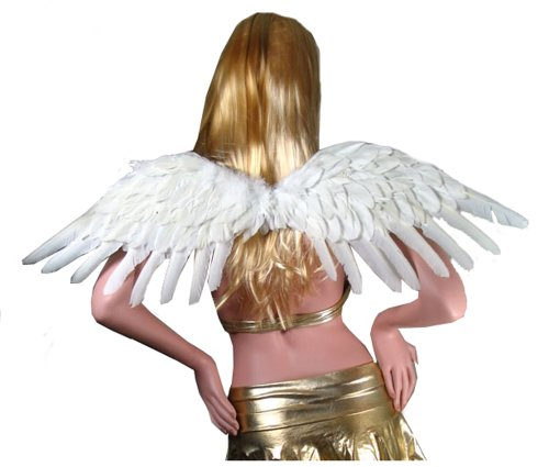 SACAS Large White Feather Angel Wings for women, men and adults (Large White Feather Angel Wings)