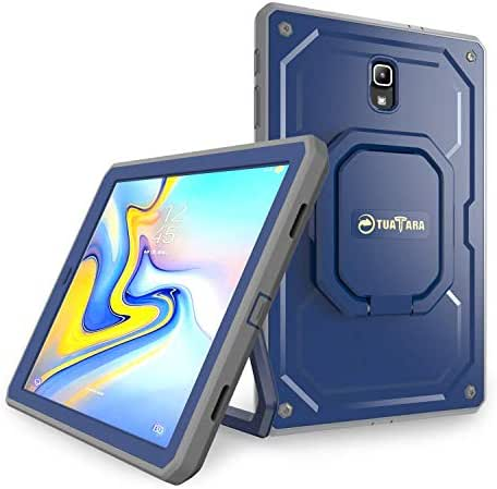Fintie Shockproof Case for Samsung Galaxy Tab A 10.5 2018 Model SM-T590/T595/T597, [Tuatara Magic Ring] [360 Rotating] Multi-Functional Grip Stand Carry Cover w/Built-in Screen Protector, Navy