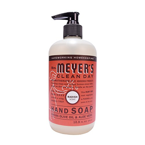 Soap Hand Basil (Mrs. Meyer's Clean Day Liquid Hand Soap, Radish Scent, 12.5 ounce bottle)