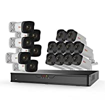 Revo America Ultra 16CH 4K H.265 NVR, 4 TB Surveillance Grade HDD, Remote Access, with 16x 1080p WDR Indoor/Outdoor IR Bullet Cameras