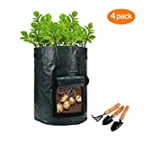 buy Garden Potato Grow Bag , 4-Pack 7 Gallon Vegetables Plant Grow Bags,Planting for Potato, Carrot, Vegetables Flower Plant now, new 2020-2019 bestseller, review and Photo, best price $10.98