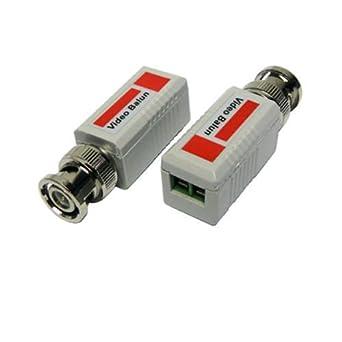 CCTV BNC Video Camera Baluns Pair UTP CAT5e Cable Transmit Receiver DVR Recorder