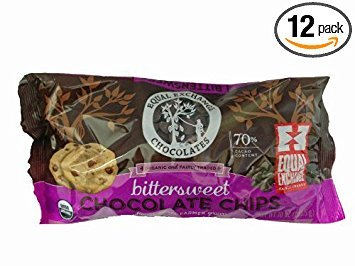 Chocolate Chips Bittersweet 70% Cacao, Organic 10 Ounces (Case of 12) by Equal Exchange