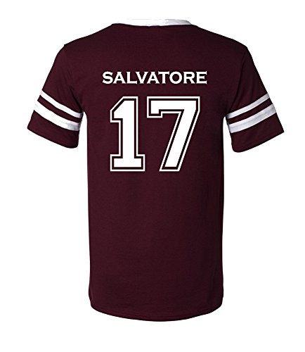 The Creating Studio Adult Vampire Diaries Salvatore 17 2-Sided Jersey (Medium, Maroon)