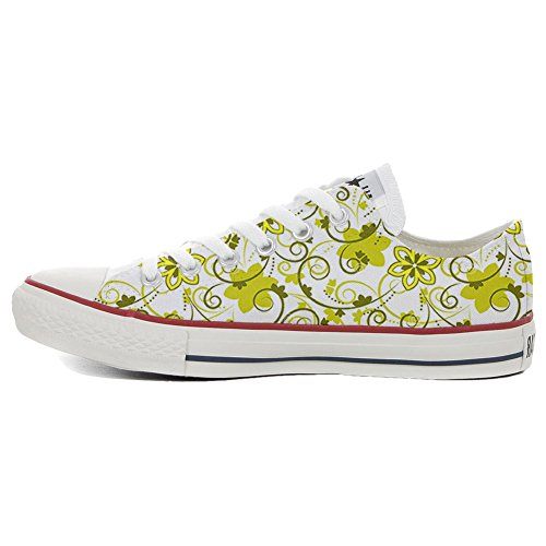 Converse All Star Slim Customized personalisierte Schuhe (Handwerk Schuhe) Summer Paisley