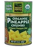 Native Forest Organic Pineapple Chunks -- 14 oz