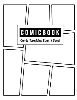 comic strip template 7 panels  Comic Book 6 Panel: Templates Comic Blank Book Panel Strip ...