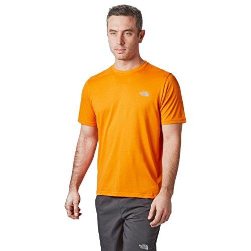 Crew Face North exubernce Manga Camiseta Hombre M Reaxion De Naranja Amp Corta Orange The dX5a78wqX