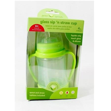 green sprouts Glass Sip & Straw Cup | Liquids only touch sil