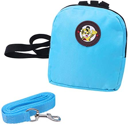 YAODHAOD Pet Cartoon Backpack HarnessLeash Puppy Dog Cute Back Pack Saddle Bags Travel Outdoor Hiking Adjustable Leash Saddlebag for Small Dogs