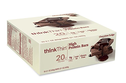 [thinkThin High Protein Bars, Chocolate Fudge, 2.1 Ounce (pack of 10)] (Think Thin High Protein Bar Chocolate Fudge)