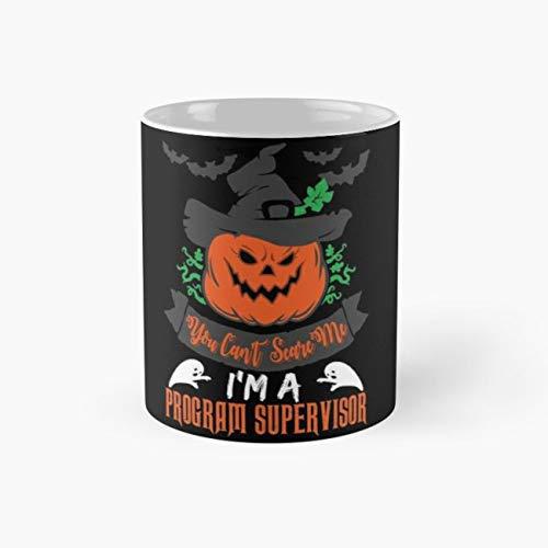 Program Supervisor Halloween Ideas 110z Mugs -