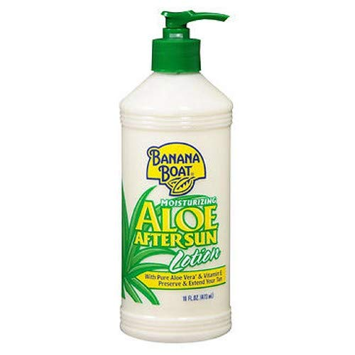 Banana Boat Moisturizing Aloe After Sun Lotion, 16 Ounces (Pack of 1) (Banana Boat Moisturizing Aloe After Sun Lotion)