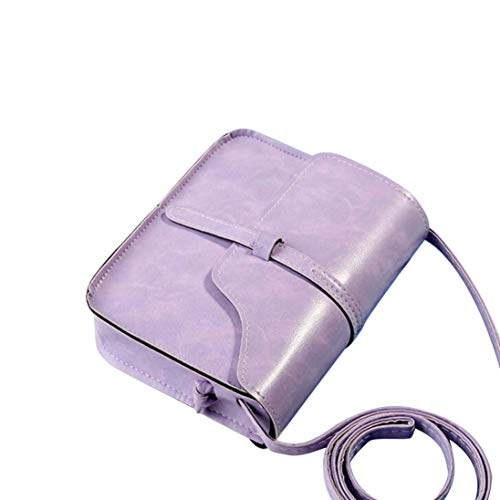 Mini Bag Messenger Ladies able Leather Purse Bag Cross Totes Vintage Shoulder Women Fashion Small Shoulder Purple Body Bag For Bag Handbag qZfwS