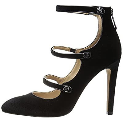 Amazon Brand - The Fix Women's Maya Pointed-Toe Military-Inspired Strap Pump With Decorative Jewels: Shoes