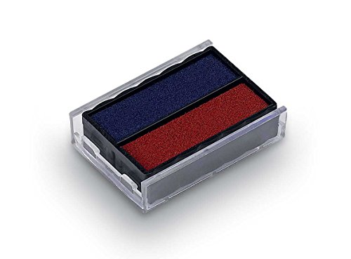 Rubber Stamp Creation Replacement Pad for Trodat 4850 Self Inking Stamp - Blue/Red Ink - Ink Replacement Pad Trodat Blue