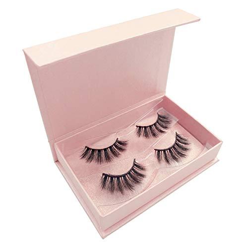 2 pairs mink eyenatural lang makeup 3d false eyehand made faux cils full strip eye3d mink lashes,81P