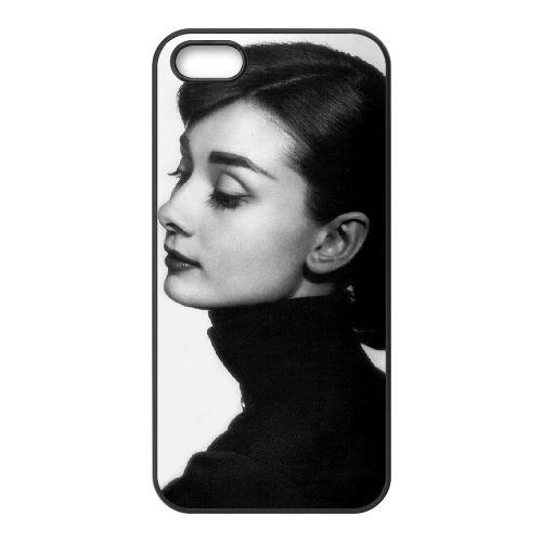 Audrey Hepburn 006 2 coque iPhone 5 5S cellulaire cas coque de téléphone cas téléphone cellulaire noir couvercle EOKXLLNCD21806