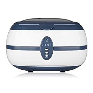 600ml Ultrasonic Cleaner with 3 Minutes Digital Timer for Cleaning Jewelry Watches Razors Denture Eyeglasses Combs DVDs Rings Coins and More Tools & Parts (40KHz, 35W)