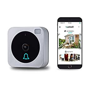 Wifi Video Doorbell, Compatible with Alexa Echo Show, Netvue Vuebell Doorbell Camera 720P HD Cam,Cloud Storage,Two-Way Audio,Motion Detection,Infrared Night Vision AC 8-24V DC 9-36V