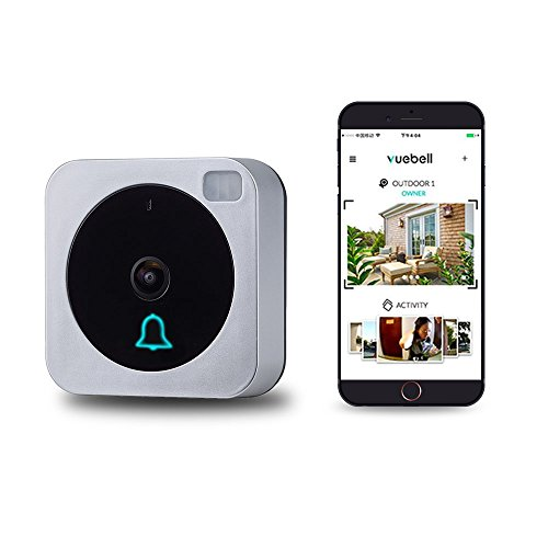 Wifi Video Doorbell, Compatible with Alexa Echo Show, Netvue Vuebell Doorbell Camera 720P HD Cam,Cloud Storage,Two-Way Audio,Motion Detection,Infrared Night Vision AC 8-24V DC 9-36V (Remote Intercom Internet)