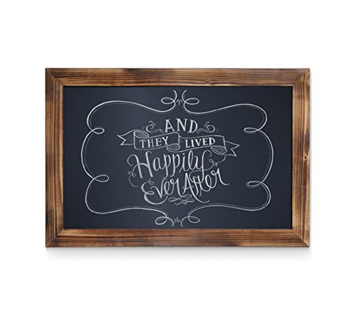 HBCY Creations Rustic Torched Wood Magnetic Wall Chalkboard, Extra Large Size 20'' x 30'', Framed Decorative Chalkboard - Great for Kitchen Decor, Weddings, Restaurant Menus and More! … (20'' x 30'') by HBCY Creations (Image #8)