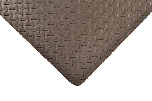 NoTrax Vinyl 479 Cushion Trax Anti-Fatigue Mat, for Heavy-Traffic Dry Areas, 2' Width x 3' Length x 9/16'' Thickness, Black by NoTrax Floor Matting